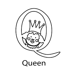 alphabet coloring pages queen alphabet coloring pages