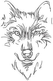 wolf face coloring page minimal lines make this wolf design striking downloads as a pdf