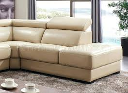 hilaria beige leather modern sectional sofa u2013 despecadilles com