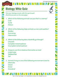 biology whiz quiz u2013 science worksheets and printables for 3rd