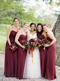 maids in the prettiest shade of maroon photography by jose villa