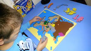 Europe Map Puzzle by I U0026k Montessori Europe Puzzle Youtube