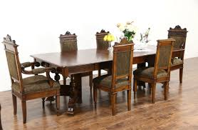 walnut dining room chairs sold victorian eastlake 1890 antique walnut dining table 5