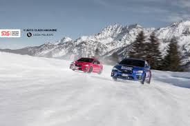rally subaru snow subaru snow drive experience sideways fun auto class magazine