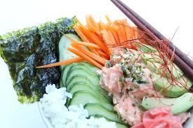 sriracha mayo sushi spicy salmon sushi bowl cooking with books