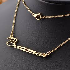 free gold necklace images Wholesale 2016 18k gold plated 925 sterling silver customized name jpg