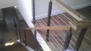 Cable Banister Stainless Steel Cable Railings In Baltimore Md Urbana Ironworks