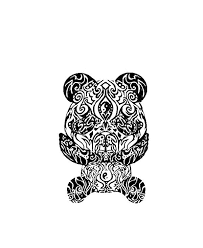 46 best panda bear tattoo tribal silhouette images on pinterest