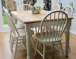 a truly stunning pine farmhouse table and six hooped back
