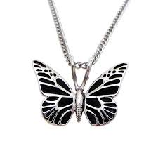 necklace butterfly images Women 39 s steel butterfly necklace 2 corinthians 5 17 jpg
