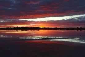 Pink Lake Sunset At Pink Lake U2014 Weasyl