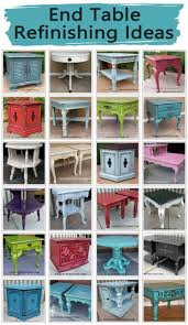 distressed wood end table end table refinishing ideas facelift furniture