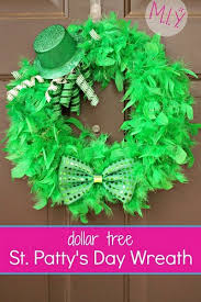 s day wreath get your on easy emerald st s day wreath make it