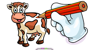 farm animals coloring book pro the creative free paint and color