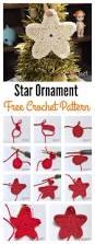 christmas tree star ornament free crochet pattern ganchillo