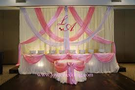 pink and white wedding decoration joyce wedding services
