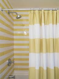 Shower Curtain Striped Stripe Shower Curtain By West Elm In A Bathroom By Harry Heissmann