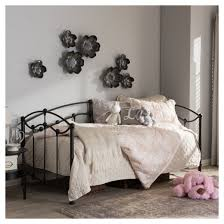 dahlia victorian style dark antique finished metal daybed twin