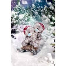 buy 3d holographic brother me to you bear christmas card in cheap