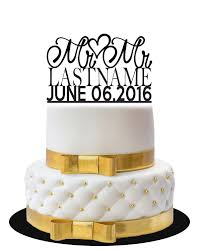 mr and mr cake topper wedding cake topper mr mr with name and date lvly
