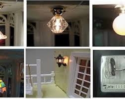 Dollhouse Lighting Fixtures Dollhouse Lighting Etsy