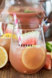 watermelon lemonade margaritas with a kid friendly version