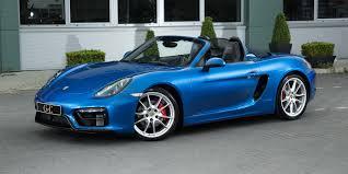 blue porsche boxster porsche boxster 981 gts 2014 gve luxury vehicles london
