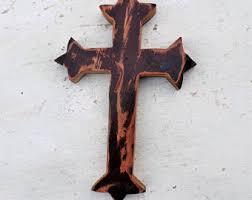 wooden cross etsy