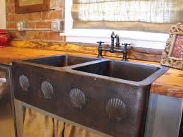 unique kitchen copper sink with patterned motives copper kitchen