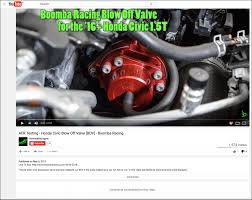 non ricer honda blow off valve boomba racing page 14 2016 honda civic forum