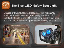 blue warning lights on forklifts how forklift blue safety lights improves pedestrian safety