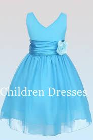 light blue dresses for kids light blue bow belt vneck flower dresses kids by cdyshop