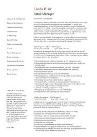 retail manager resume retail manager resume exle http www resumecareer info