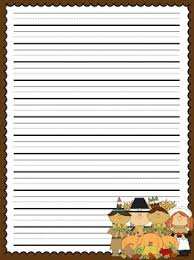 primary lined thanksgiving writing paper by allison chunco tpt
