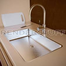 sink 3d model with faucet modern kitchen elegant kitchen sink