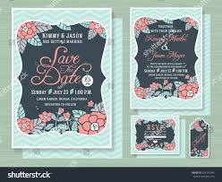 Engagement Invitation Cards Engagement Invitation Template Topical Flower Design Stock Vector