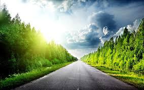 beautiful road sunshine way hdwallpaperfx