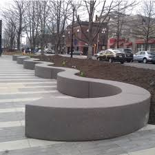 Concrete Curved Bench - streetscapes