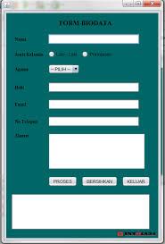 kumpulan tutorial java netbeans belajar netbeans membuat form biodata sederhana dengan java swing