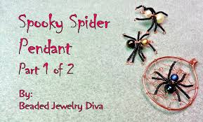 spooky spider pendant part 1 halloween jewelry tutorial youtube
