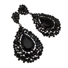 black earings 58 large black earrings large black and white patterned earrings