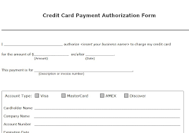 Exles Of Billing Invoices by Credit Card Billing Authorization Form Template 28 Images 5