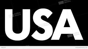 White Flag Gif The Word Usa With Waving Flag Animation With Alpha Matte Stock