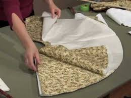 create a tree skirt in an evening