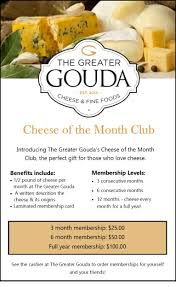 Food Of The Month Club Cheese Of The Month Club U2013 The Greater Gouda