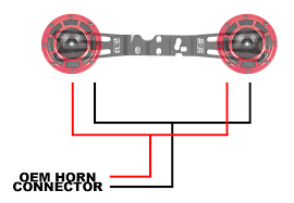 horn wiring harness ewiring