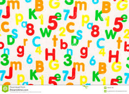 pattern and numbers numbers and letters on white fabric stock illustration