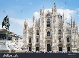 milan duomo cathedral church main square stock photo 417005746