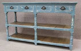 Vintage Sideboard Shabby Chic Sideboard Reclaimed Pine Top And Hand Distressed Paintwork