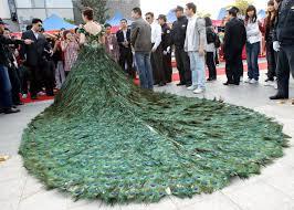 peacock wedding usd 1 4 million peacock wedding dress wedding rings model
